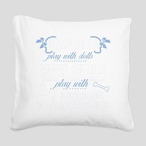 Australian Labradoodles Square Canvas Pillow
