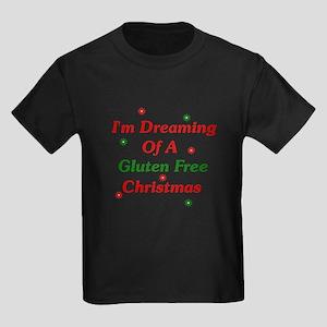 Dreaming Of A Gluten Free Christmas Kids Dark T-Sh