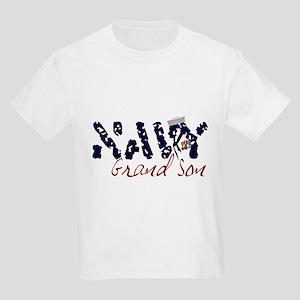 Navy Grandson Kids T-Shirt