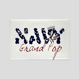 Navy Grand Pop Rectangle Magnet