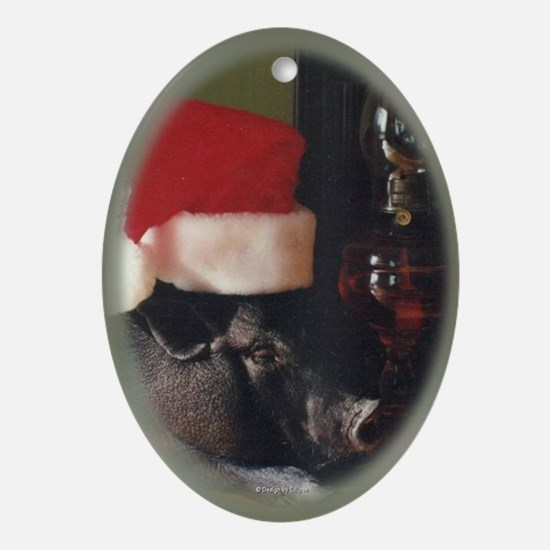 Pig 2 Oval Ornament