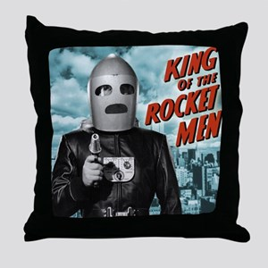 King of the Rocket Men Throw Pillow