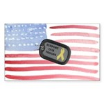 Support Our Troops Sticker (Rectangle 10 pk)