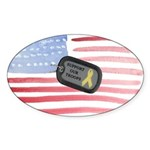 Support Our Troops Sticker (Oval 10 pk)