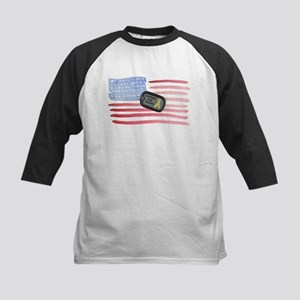 Support Our Troops Kids Baseball Jersey