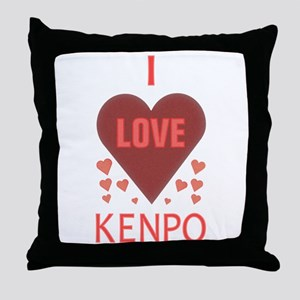 I Love Kenpo Throw Pillow