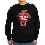 Love You Beary Much Sweatshirt (dark)