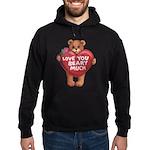 Love You Beary Much Hoodie (dark)