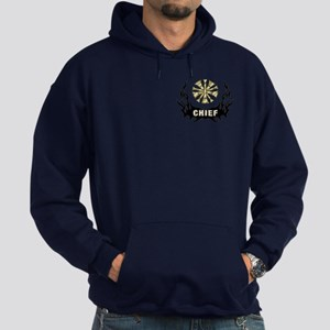 Fire Chief Tattoo Flames Hoodie (dark)