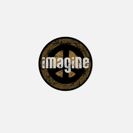 Imagine Peace Vintage Mini Button
