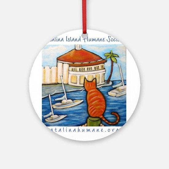 Cat at Casino Ornament (Round)