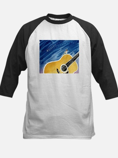 Acoustic Guitar Dream Kids Baseball Jersey