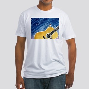 Acoustic Guitar Dream Fitted T-Shirt