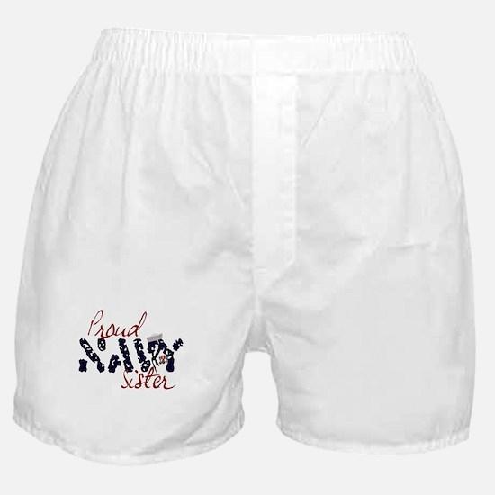 Proud Navy Sister Boxer Shorts