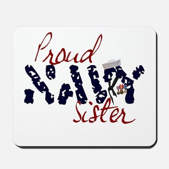 Proud Navy Sister Mousepad