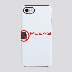 Black Please Recycle Men iPhone 8/7 Tough Case