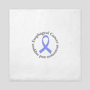 Esophageal Cancer Support Ribbon Queen Duvet