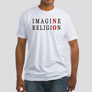 Imagine No Religion Fitted T-Shirt