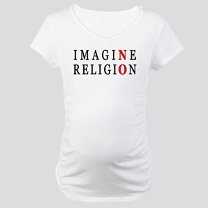 Imagine No Religion Maternity T-Shirt