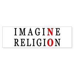 Imagine No Religion Bumper Sticker (10 pk)