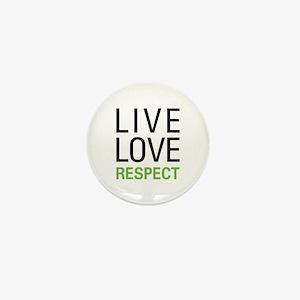 Live Love Respect Mini Button