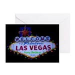 Las Vegas Merry Christmas with lights Cards