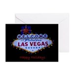 Las Vegas Happy Holidays with lights Cards 10