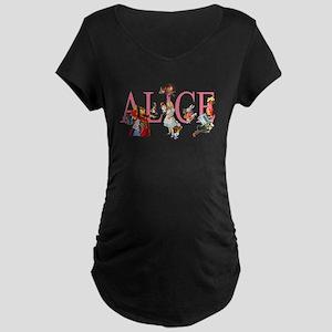 ALICE & FRIENDS IN WONDERLA Maternity Dark T-Shirt