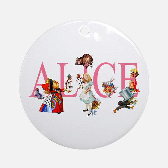 ALICE & FRIENDS IN WONDERLAND Ornament (Round)