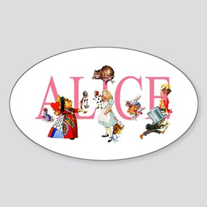 ALICE & FRIENDS IN WONDERLAND Sticker (Oval)