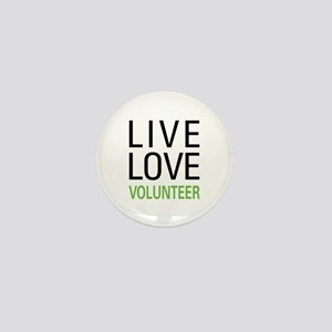 Live Love Volunteer Mini Button