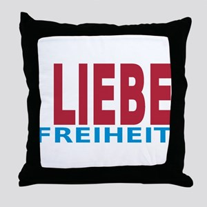 Fieden Liebe Freiheit 3-3 Throw Pillow