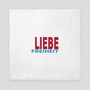 Fieden Liebe Freiheit 3-3 Queen Duvet