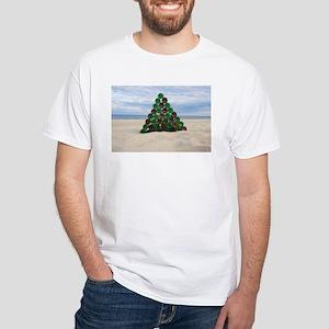 Christmas Bottle Tree Beach White T-Shirt