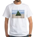 Beach christmas Mens Classic White T-Shirts
