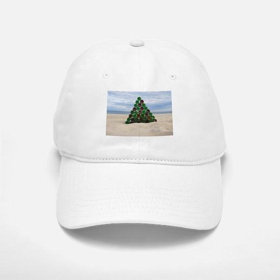 Christmas Bottle Tree Beach Baseball Baseball Cap