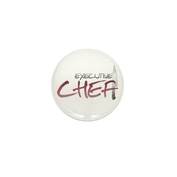 Red Executive Chef Mini Button (10 pack)