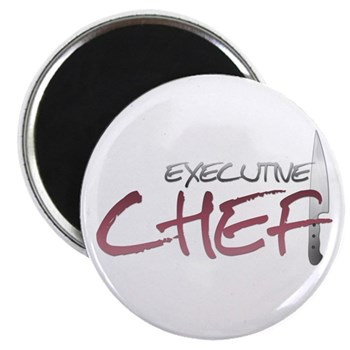 Red Executive Chef Magnet