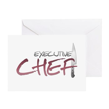 Red Executive Chef Greeting Card