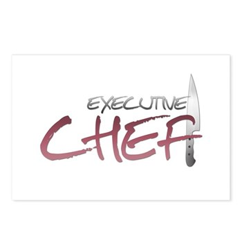 Red Executive Chef Postcards (Package of 8)