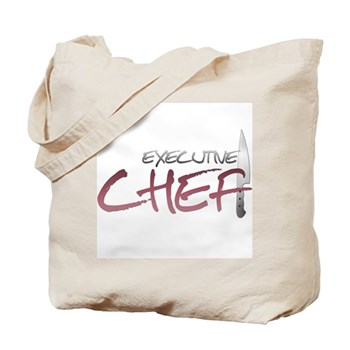 Red Executive Chef Tote Bag