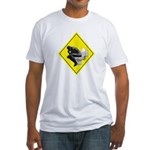 Thinking man Fitted T-Shirt