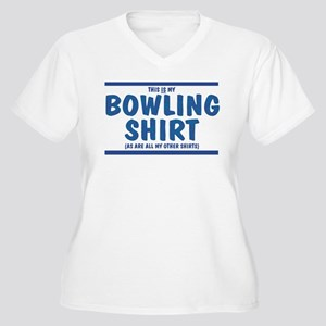 Bowling Shirt - Women's Plus Size V-Neck T-Shirt
