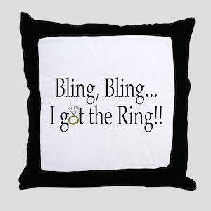 Bling, Bling, I Got The Ring! Throw Pillow
