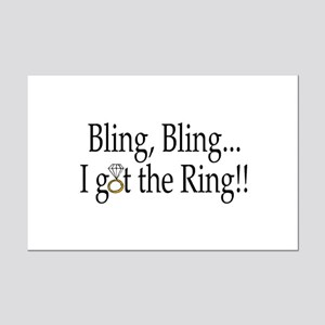 Bling, Bling, I Got The Ring! Mini Poster Print