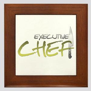 Yellow Executive Chef Framed Tile