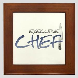 Blue Executive Chef Framed Tile