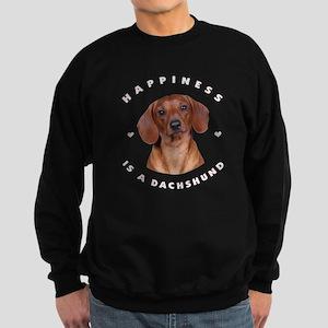 Happiness is a Dachshund! Sweatshirt (dark)