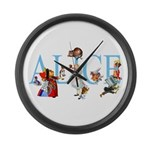 ALICE & FRIENDS Large Wall Clock