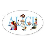 ALICE & FRIENDS Sticker (Oval 10 pk)